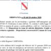 Campania - Ordinanza  regionale n.83 del 22 ottobre 2020 : Coprifuoco dalle 23.00 alle 5.00